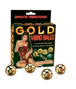 GOLD VIBRO BALLS BOLAS CHINAS - Imagen 1