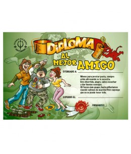 DIPLOMA AL MEJOR AMIGO - Imagen 1