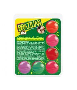 SECRET PLAY BRAZILIAN BALLS VARIADAS GEL INTIMO AROMA FRUTAS - Imagen 1