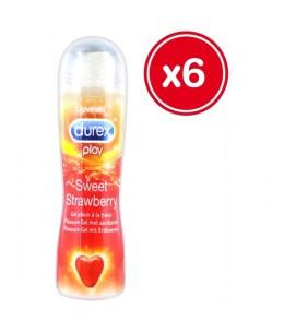 DUREX PLAY SWEET STRAWBERRY 50 ML (6 UDS) - Imagen 1