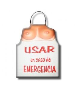 DELANTAL TETAS USAR EN CASO DE EMERGENCIA - Imagen 1