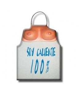 DELANTAL TETAS SOY CALIENTE 100% - Imagen 1