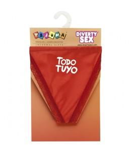 TANGA ROJO CHICA TODO TUYO - Imagen 1