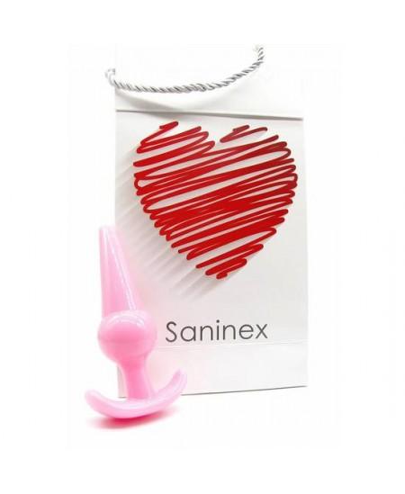SANINEX PLUG INITIATION ORGASMIC ANAL SEX COLOR ROSA - Imagen 1