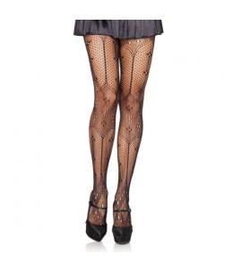 LEG AVENUE PANTIES TIPO CROCHET NEGRO - Imagen 1
