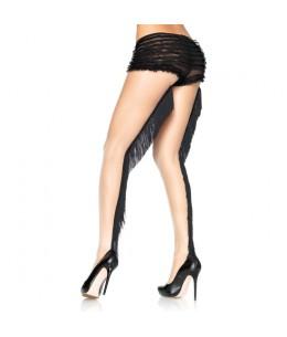 LEG AVENUE PANTIES NUDE CON COSTURA TRASERA DE FLECOS - Imagen 1