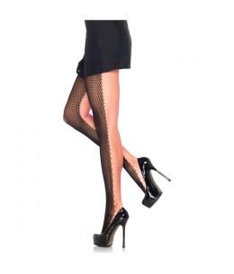 LEG AVENUE PANTIES DE RED NEGRO-ROSA NEON - Imagen 1