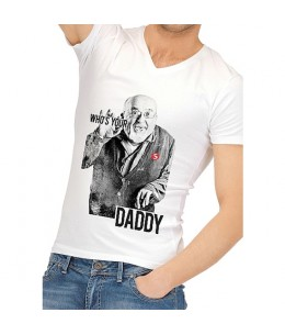 CAMISETA DIVERTIDA WHO IS YOUR DADDY - Imagen 1