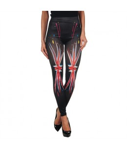 INTIMAX PAINTED LEGGINS UK BLACK - Imagen 1