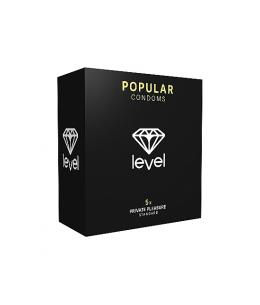 PRESERVATIVOS LEVEL POPULAR CONDOMS - 5UDS - Imagen 1