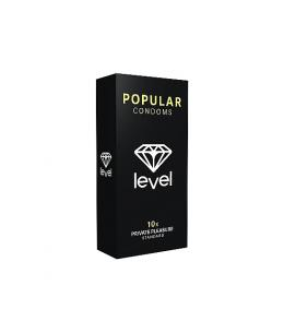 PRESERVATIVOS LEVEL POPULAR CONDOMS - 10UDS - Imagen 1
