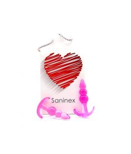 SANINEX PLUG INITIATION 3D PLEASURE - ECONOMIC LINE - ROSA - Imagen 1