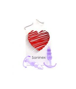 SANINEX PLUG INITIATION 3D PLEASURE - ECONOMIC LINE - MORADO - Imagen 1