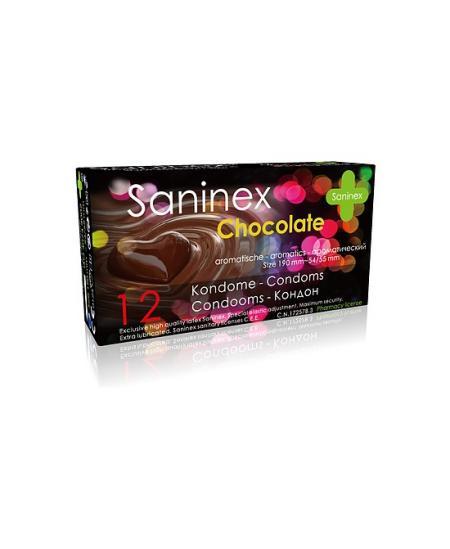 SANINEX PRESERVATIVOS CHOCOLATE 12UDS - Imagen 1