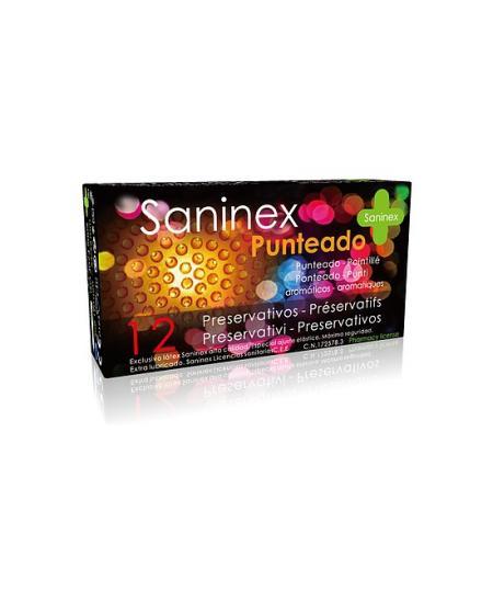 SANINEX PRESERVATIVOS PUNTEADOS 12UDS - Imagen 1