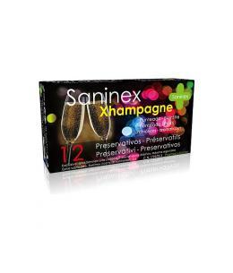 SANINEX PRESERVATIVOS XHAMPAGNE PUNTEADO 12UDS - Imagen 1