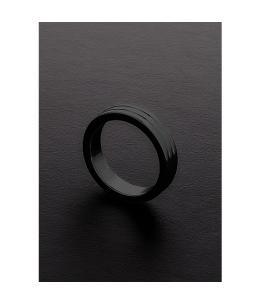 GOLDEN BLACK RIBBED C-RING (10X40MM) - Imagen 1