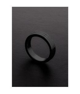 GOLDEN BLACK RIBBED C-RING (10X45MM) - Imagen 1