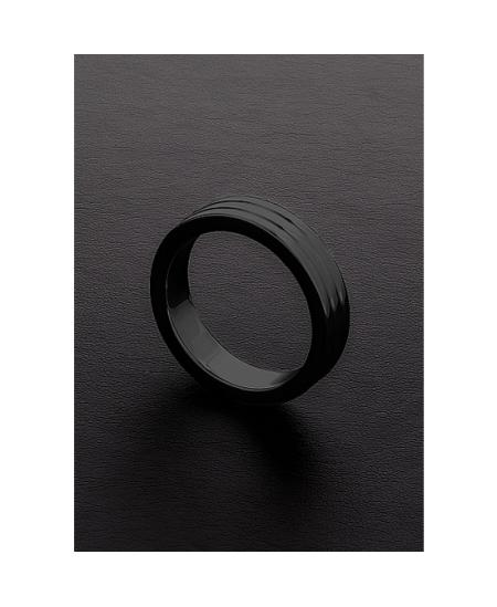 GOLDEN BLACK RIBBED C-RING (10X50MM) - Imagen 1