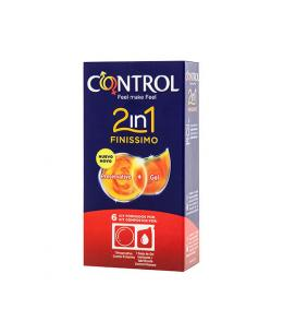 PRESERVATIVOS CONTROL 2IN1 FINISSIMO + LUBE NATURE 6UDS - Imagen 1