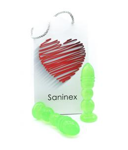 SANINEX DELIGHT - PLUG & DILDO TRANSPARENTE VERDE - Imagen 1