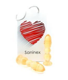 SANINEX DELIGHT - PLUG & DILDO NARANJA TRANSPARENTE - Imagen 1