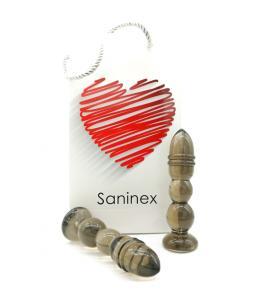 SANINEX DELIGHT - PLUG & DILDO NEGRO TRANSPARENTE - Imagen 1