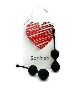 SANINEX DOUBLE CLEVER - INTELIGENTES ESFERAS VAGINALES NEGRO - Imagen 1