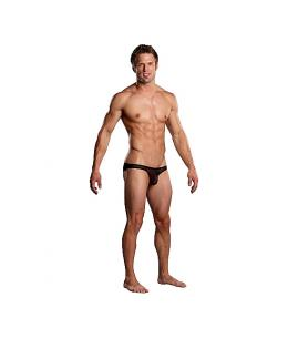 MALE POWER BIKINI NEGRO TRANSPARENCIAS - Imagen 1
