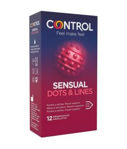 CONTROL PRESERVATIVOS SENSUAL DOTS & LINES 12 UDS - Imagen 1