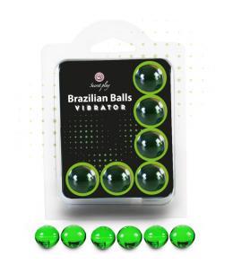 SECRET PLAY SET 6 BRAZILIAN BALLS VIBRACIÓN MENTA - Imagen 1