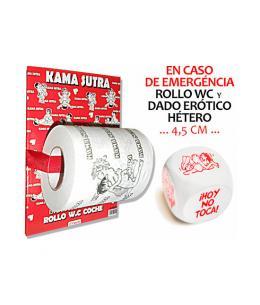 PAPEL WC KAMASUTRA y DADO POSTURAS - Imagen 1