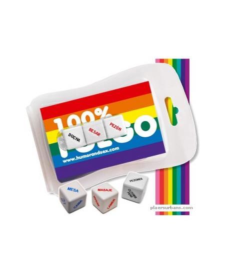 BLISTER 100% FUEGO (3 MINI DADOS) LGTBI - Imagen 1