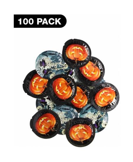 PRESERVATIVO HALLOWEEN EXS - 100 PACK - Imagen 1