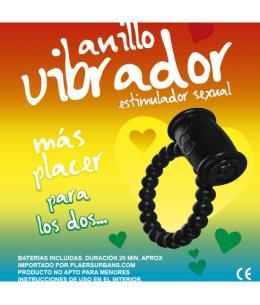 ANILLO VIBRADOR RETARDANTE NEGRO RAINBOW - Imagen 1
